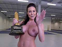 Kendra Lust fucks a guy in the cowgirl..
