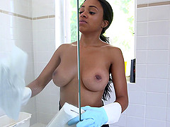 Ebony-Skinned Maid With Beautiful..