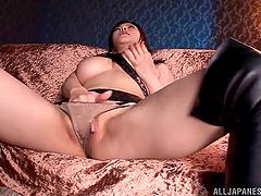 Busty Anri Okita Enjoys Pussy..