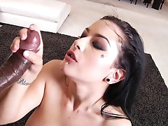 Smashing interracial show with busty..
