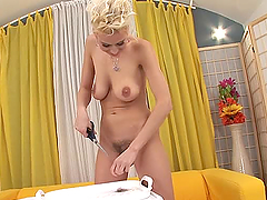 Anastasia Devine the naughty blonde..