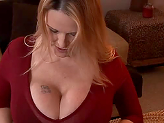 Busty milf Lynn LeMay sucks a cock and..