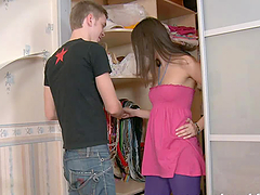 Dusya the sweet Russian teen gets..