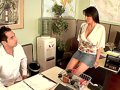 Hot banging between co-workers in the..