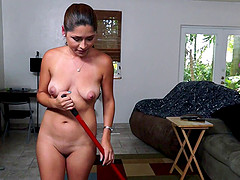 Beautiful Latina Maid With A Shaved..