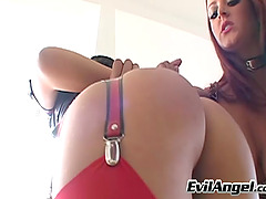 Redhead Lesbian Drilling A Tight Sex..