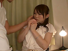 Chizuru Sakura shows her Asian boobs..