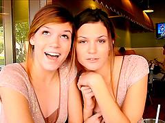 Cute Amateur Lesbian Girls Rub Their..