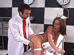 Doctor face fucks nurse Tory