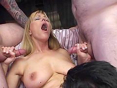 Big-breasted milf Nicole Moore enjoys..