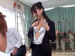 Tsukasa Aoi In Thong Gets Huge Cumshot..