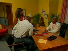 Hot office porn chick Persia in a big..