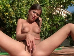 Little Caprice in the nice outdoor..