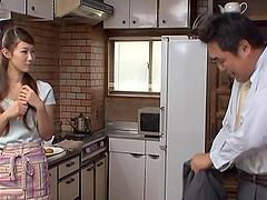 horny japanese wife masturbates..
