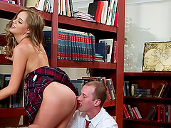 A Mini-Skirt Clad Babe With A Nice Ass..