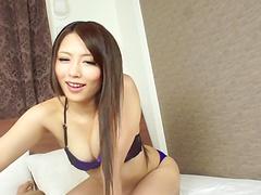 Japanese babe Ayu Sakurai favours a..