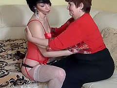 Lovely grandma seduced by young hot teen