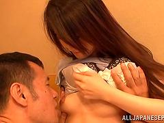 Extra naughty asian chick Maki Takei..