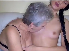 Horny grandma hungry for young pussy