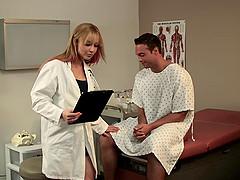 A gorgeous nurse gets hardcore pounded..