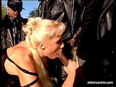 Christina Blonde enjoys interracial..