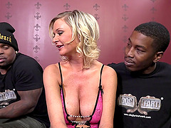 Interracial MMF banging with busty..