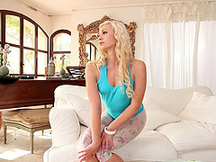 Terra wearing lace pantyhose pleases..