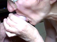 Very old grandma sucking on fat cock