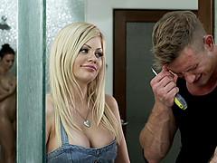 Chanel Preston and Riley Steele in a..