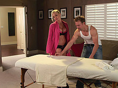 Jesse Jane gets a sensual massage then..