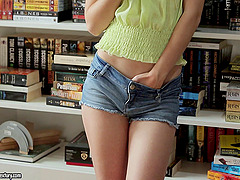 Alexis Crystal wearing shorts gets her..