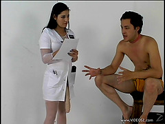 Captivating femdom nurse with a..