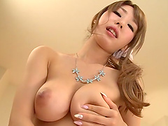 Curvy solo asian model masturbating in..
