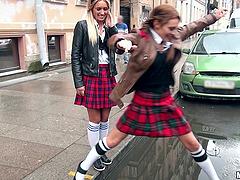 Lewd college girls Dominica Phoenix &..
