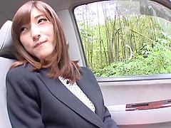 Lovely asian hottie Kanako Iioka gives..