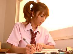 Sexy schoolgirl Miku Ohashi gets..