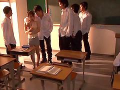 After class an Asian teacher is..