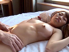 Japanese cutie enjoys massage and gets..