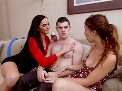 Cowgirl and brunette step mom fucked..