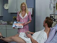 Horny nurse in uniform seduces her..
