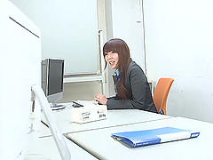 Naughty office milf Yui Hatano gets..