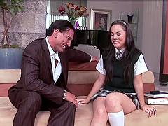 Hardcore sex clip with brunette..