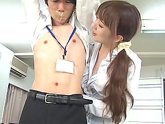 Hot milf chick Yui Hatano gives a hot..