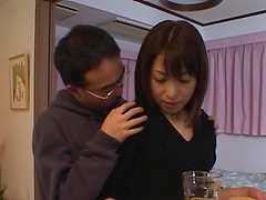 Japanese mom gets fondled and fucked..