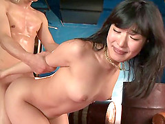 Kana Yume sucks a cock in 69 pose and..