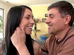 Callie Cyprus gets cock juice on her..