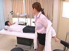 Vivacious Asian dame in miniskirt..