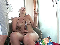 Delightful drunkard babes with natural..