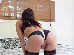 FFM threesome sex scene with Rachel..