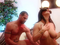 Masked brunette Kristi Love gives head..